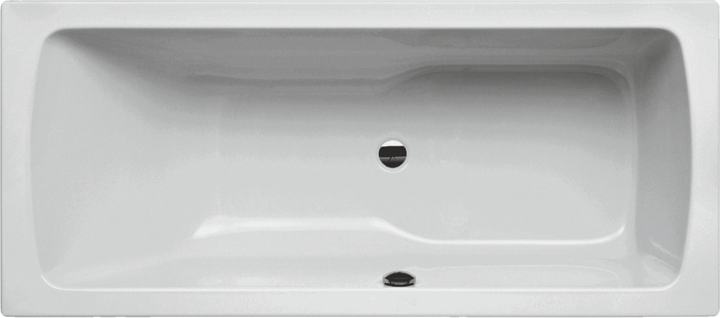 VITA modular Acryl-Badewanne 170x75x48cm , Duschzone rechts, weiß