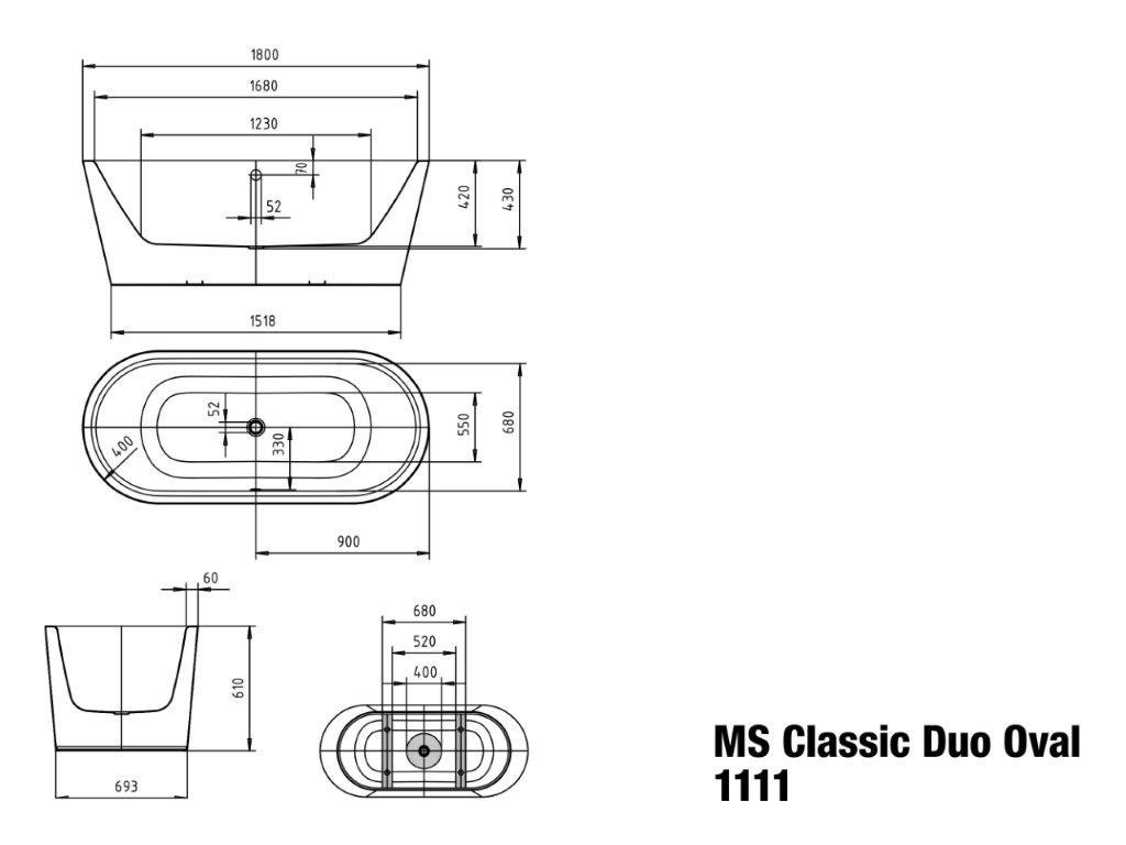 Kaldewei BW MST CLASSIC DUO OVAL 20,20x20   Badisto